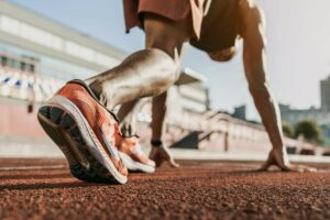 Cocaine in sport, man on athletics track