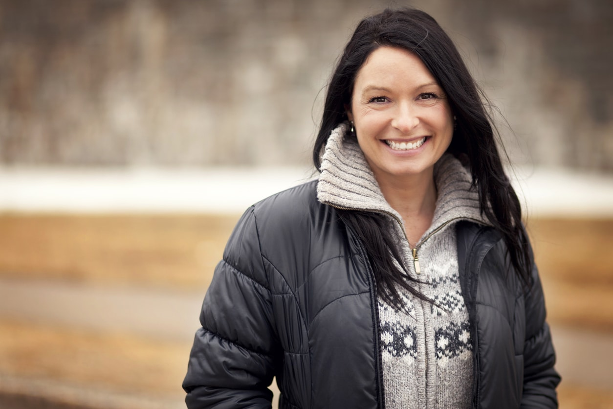 Portrait Of A Mature Native Woman Smiling